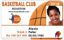 Club membership cards - Basketball