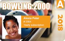 Club membership cards - Bowling