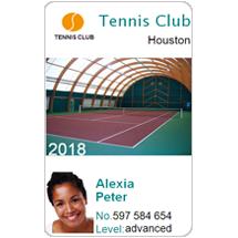 Club membership cards - Tennis clubs
