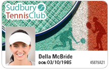 Club membership cards - Tennis